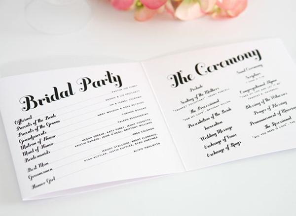 Wedding Program Wording - EverAfterGuide