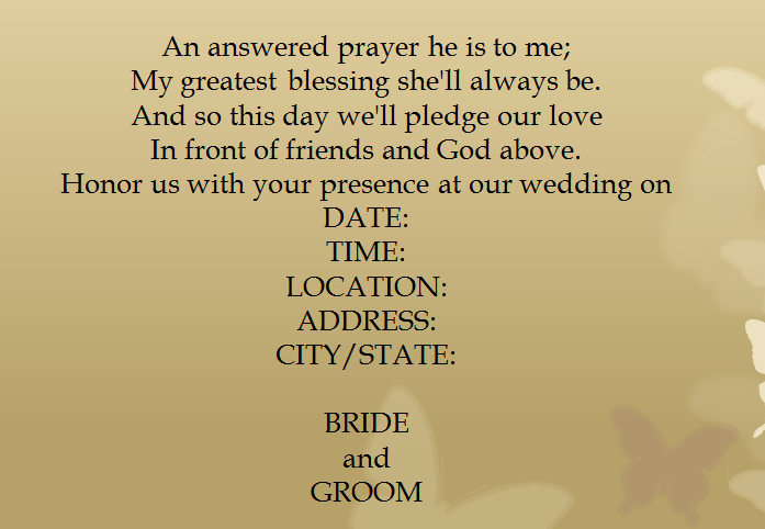 15 Samples For Casual Invitation Wording For Wedding