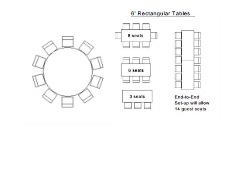 What Size Rectangular Table Seats 10 New House Designs