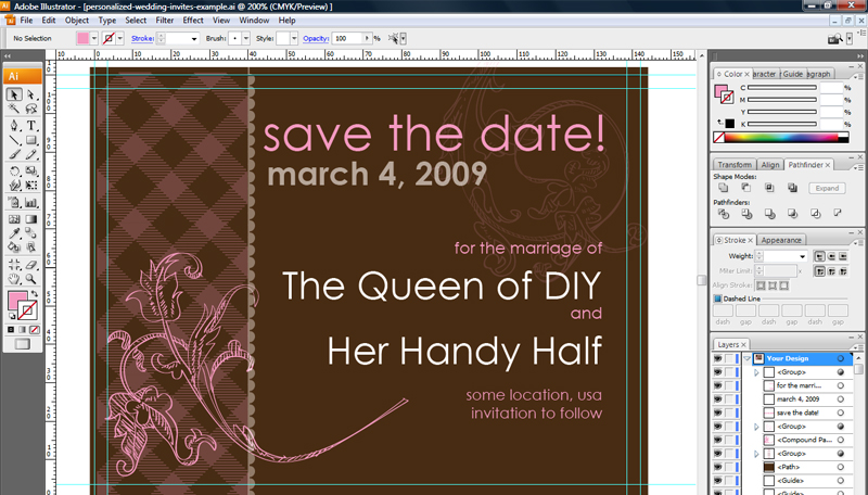 Invitation Card For Wedding Layout Get Techie As You Wed: 20 Wedding Invitation Design