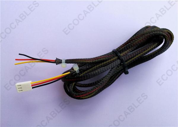 Wire Harness Assembly PVC Wire With Black Braid Sleeve For Computer