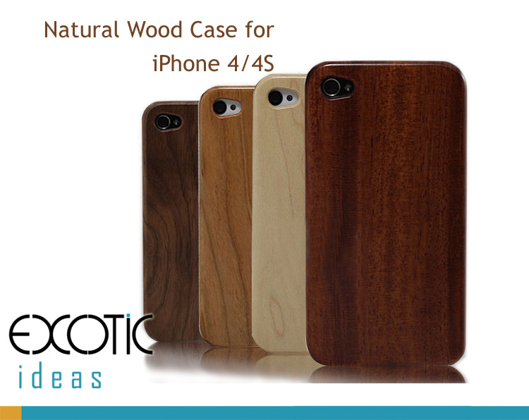 Handmade Wooden iPhone 4/4S Cases Skin, Walnut, Rosewood, White - rosewood case