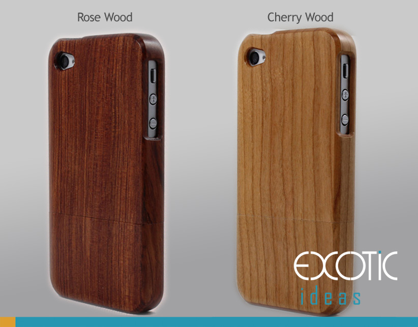 Handmade Wooden iPhone 4/4S Cases Skin,Walnut,Rosewood,Maple,Cherry - rosewood case