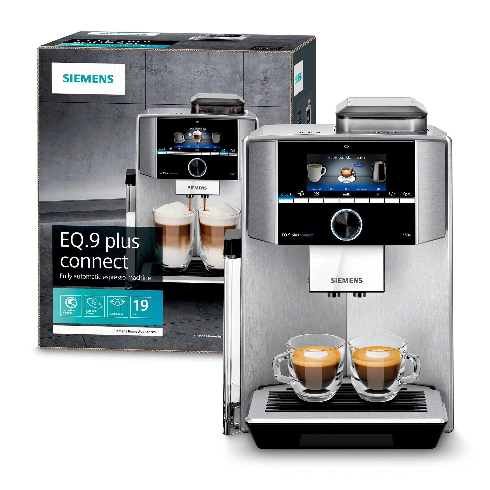 Internationale Kaffeespezialitäten Siemens Eq 9 Plus Connect S500 Ti9555x1de Kaffeevollautomat 19bar