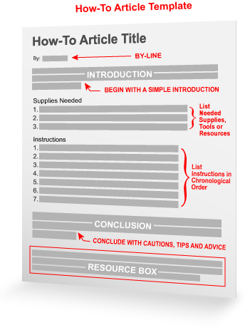 How-To Article Template - how to template