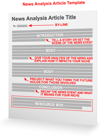 News Analysis Article Template « Article Writing  Marketing
