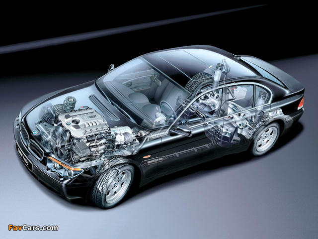 Black And Silver Wallpaper Bmw 740d E65 2002 05 Wallpapers 640x480