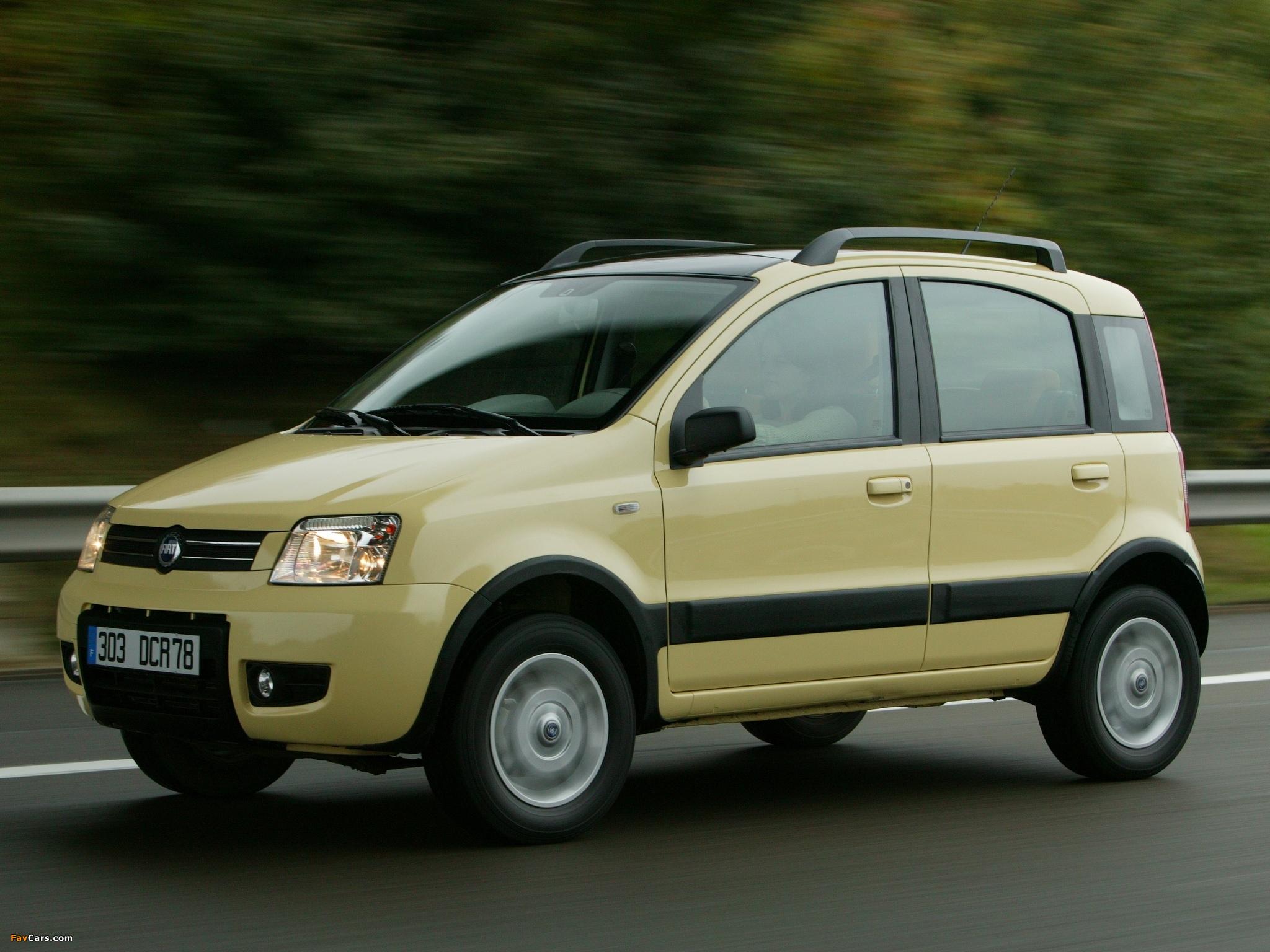 1024x768 Car Wallpapers Fiat Panda 4x4 Climbing 169 2004 Images 2048x1536