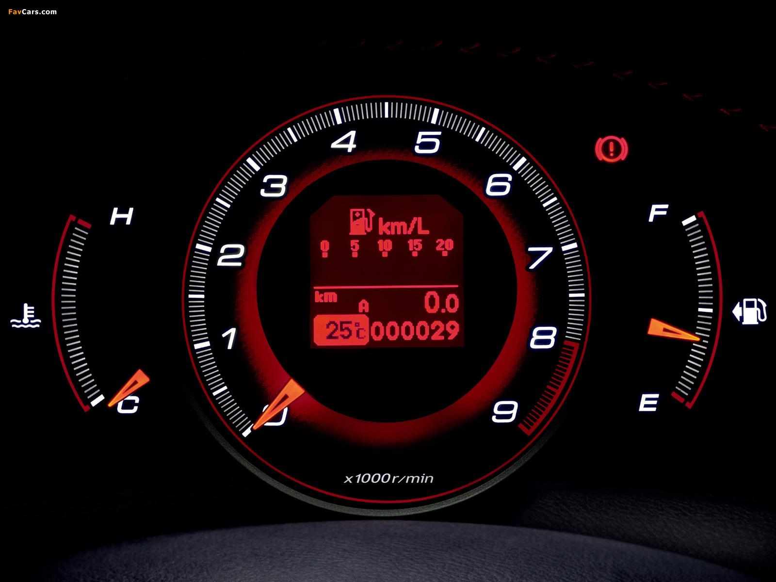 Car Dashboard Wallpaper Honda Civic Type R Euro Fn2 2009 Wallpapers 1600x1200
