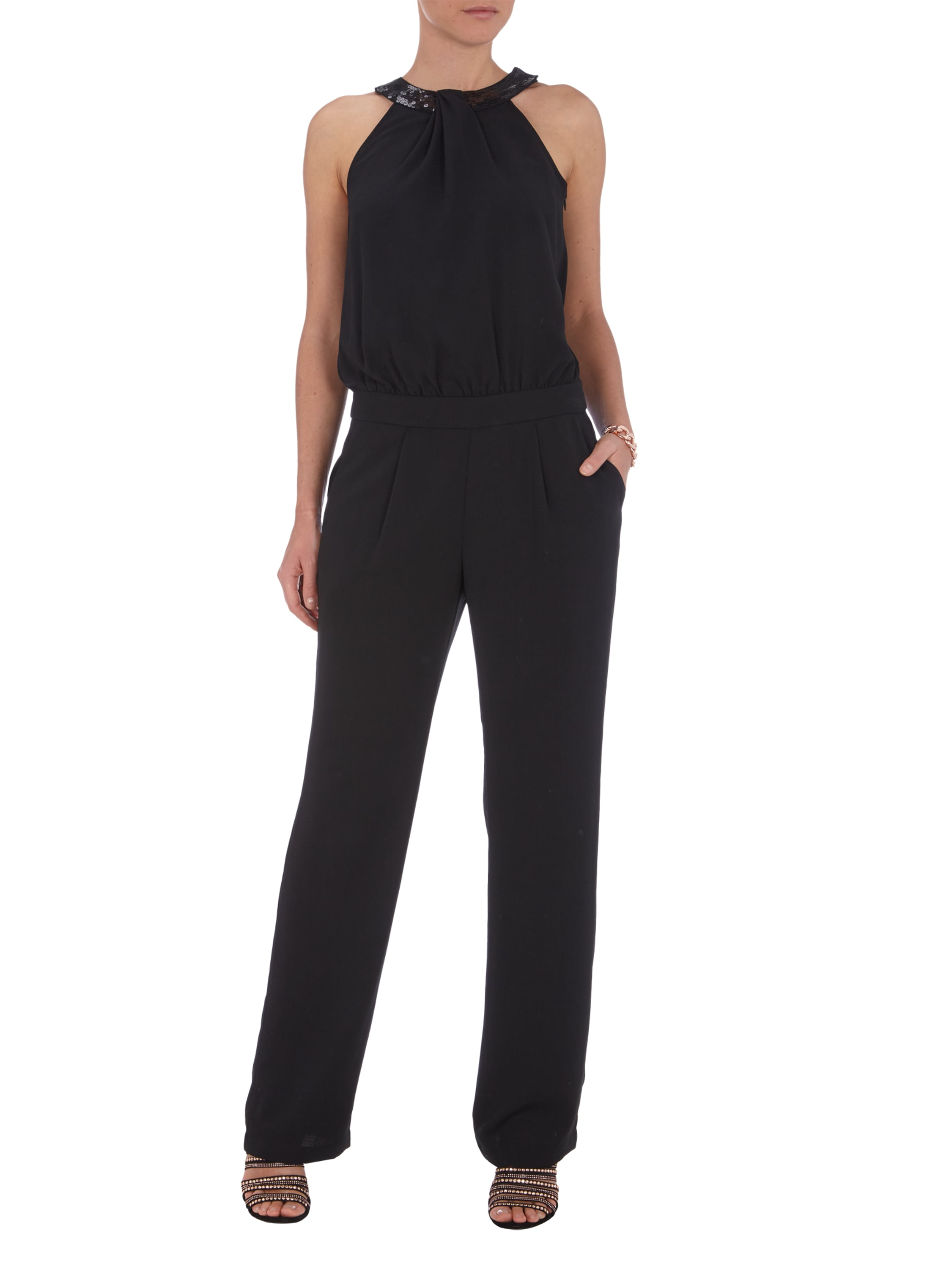 Jumpsuit Edel Esprit Collection Jumpsuit Mit Collierkragen Und