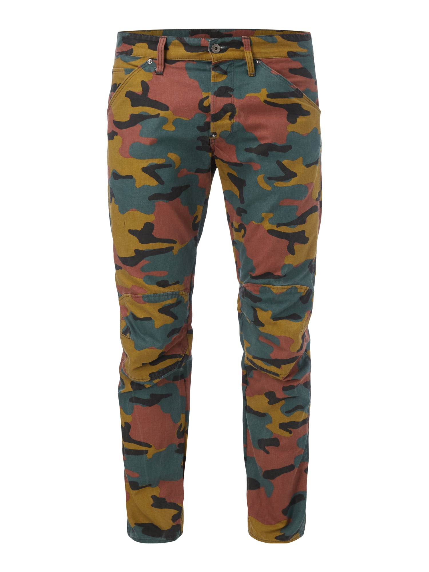 Hose Senfgelb G Star Raw 3d Tapered Fit Hose Mit Camouflage Muster In Gelb