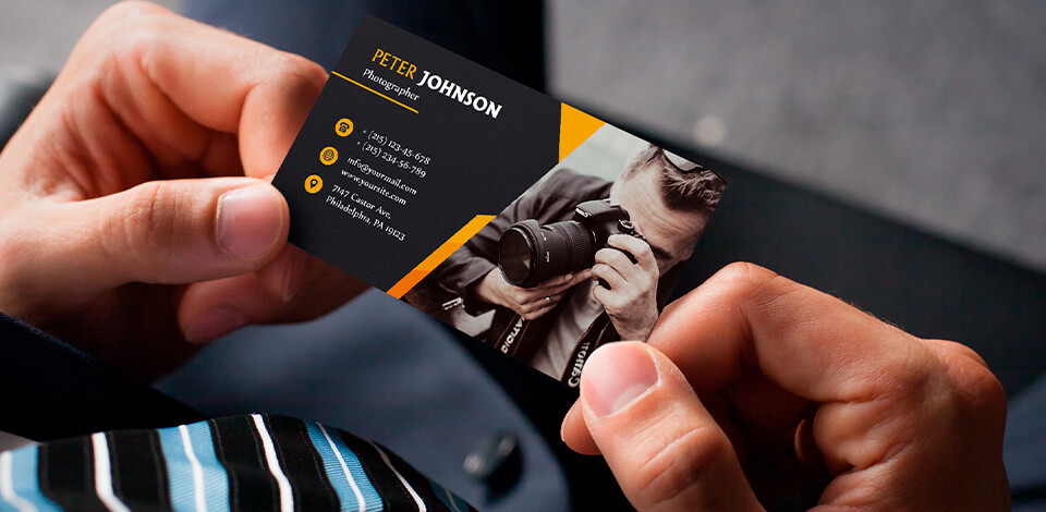 Real estate photography business cards - 20 free designs