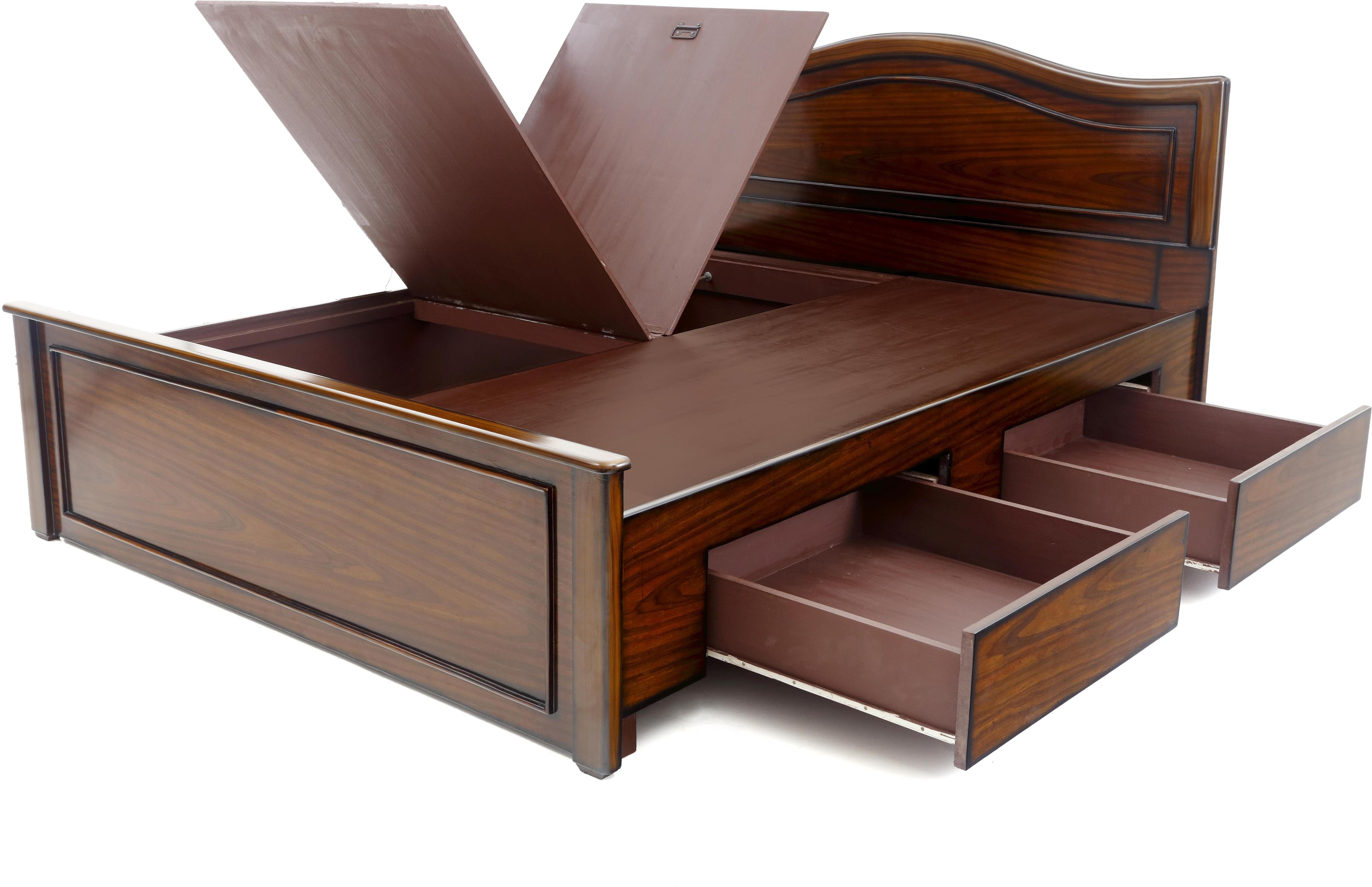 Furnicity Engineered Wood King Bed With Storage Price In