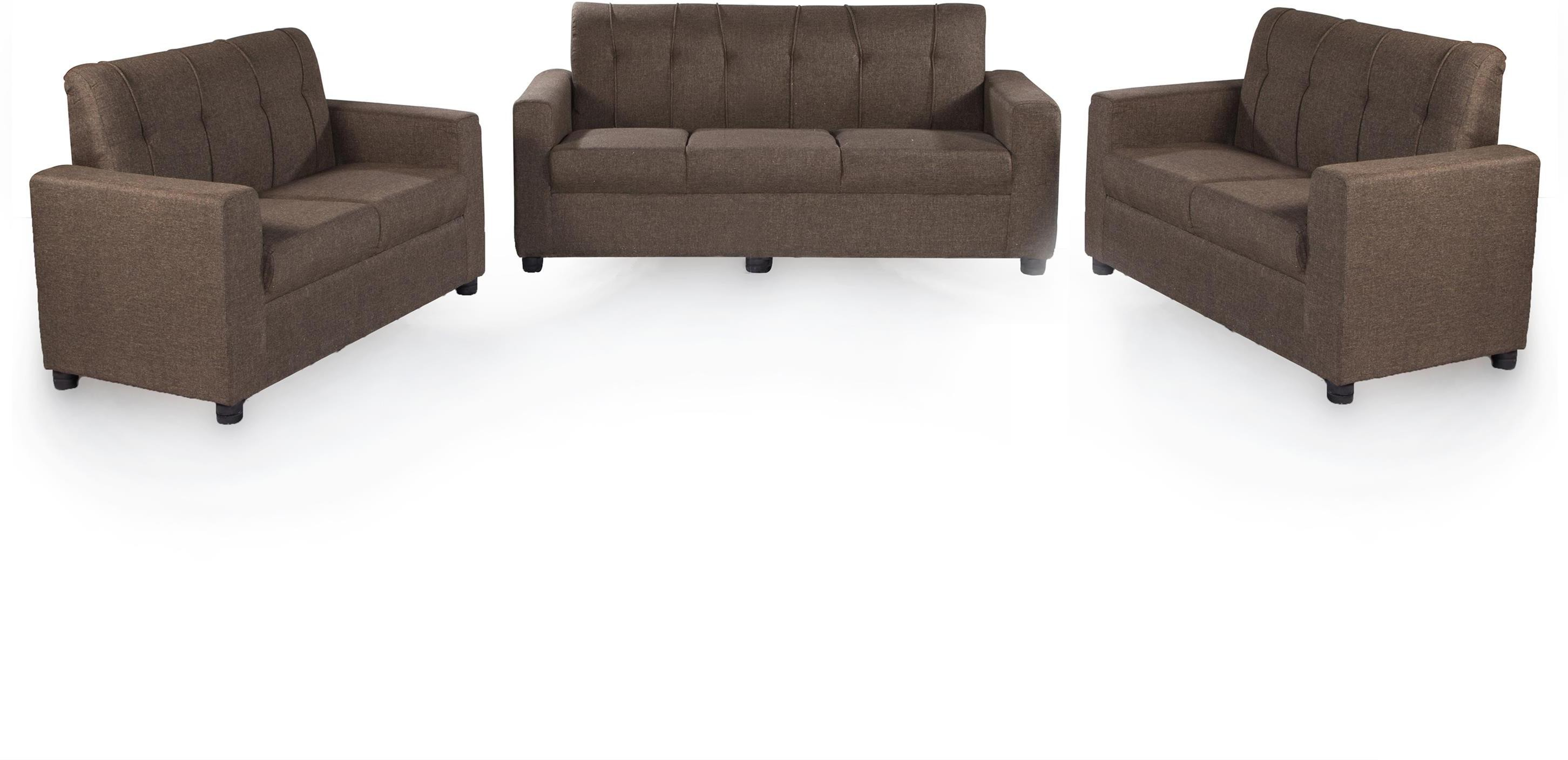 Sofa Set Offers In Mumbai Furnicity Fabric 3 2 2 Brown Sofa Set Configuration Straight