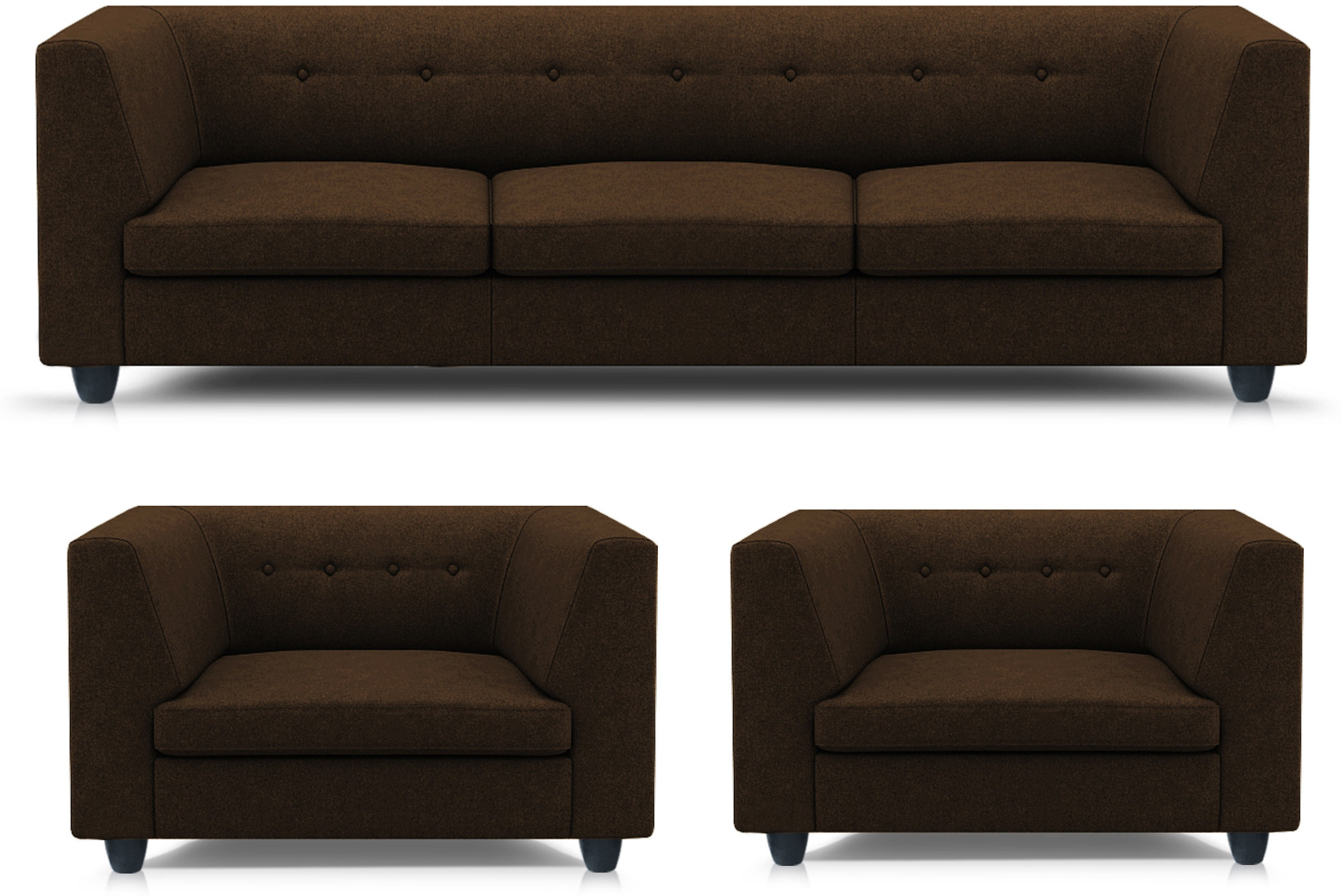 Sofa Set Offers In Mumbai Adorn Homez Modern Solid Wood 3 1 1 Brown Sofa Set Furniture