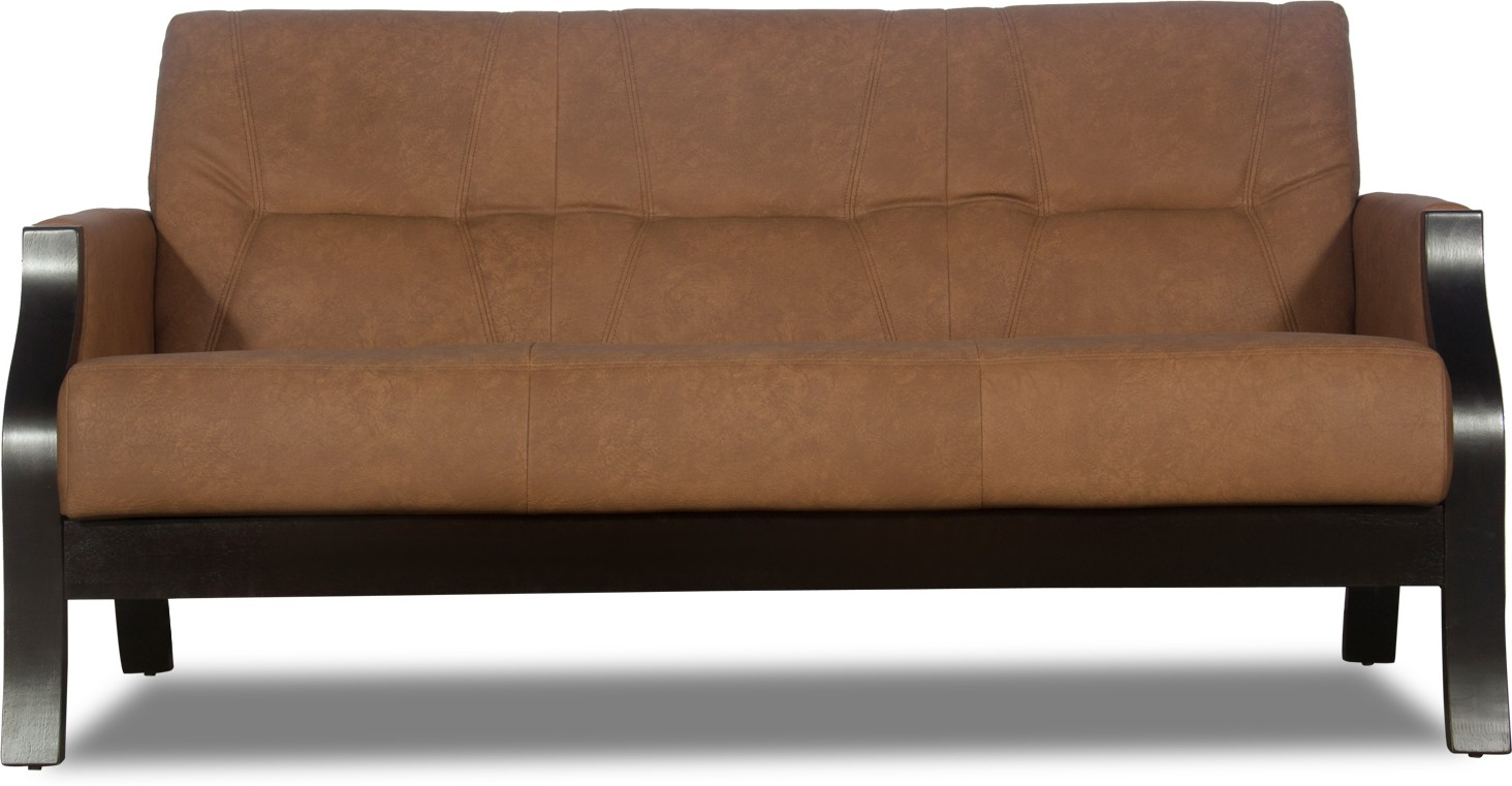 Interio Sofa Modular Godrej Interio Milos Leather 3 Seater Sofa Finish Color Brown