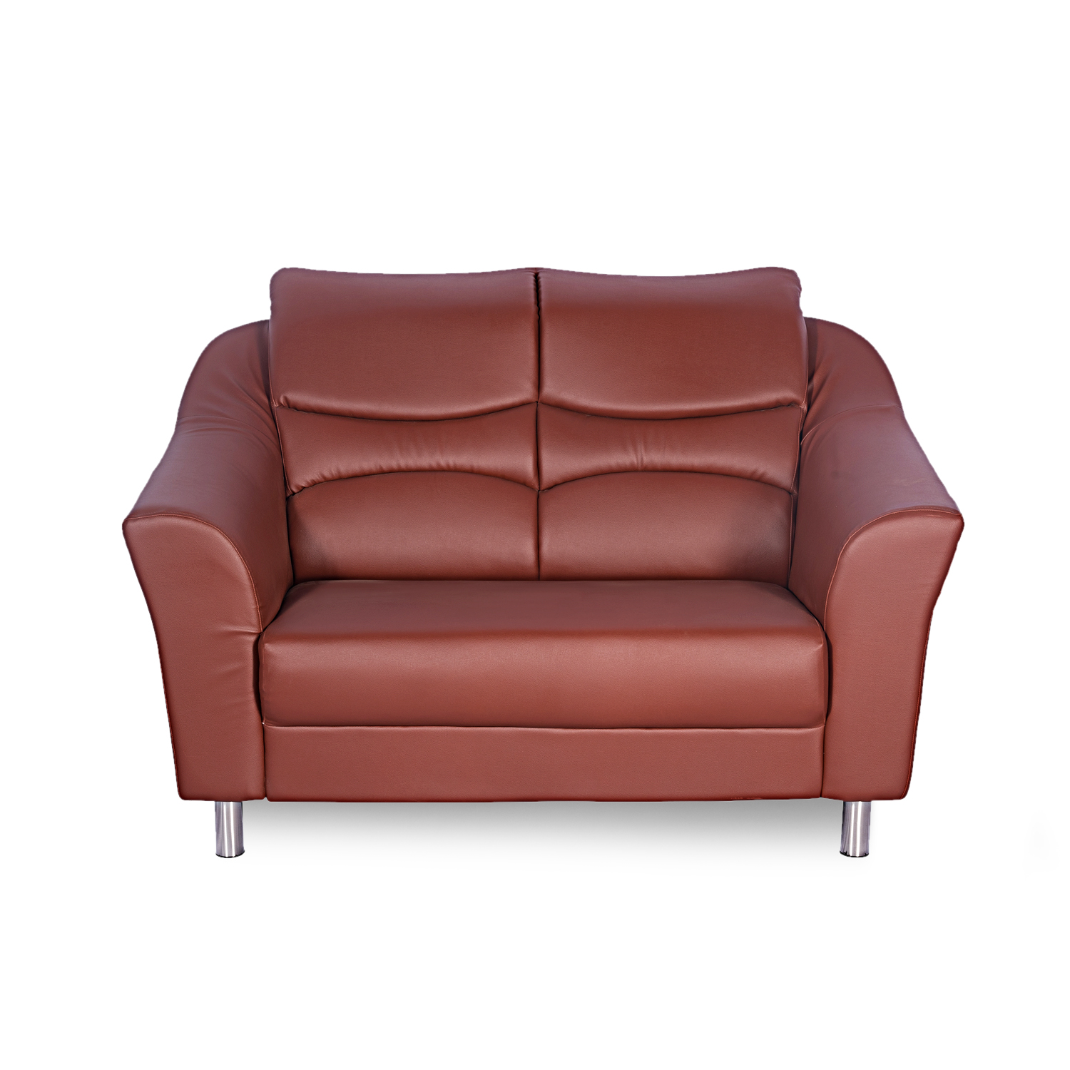 Interio Sofa Modular Godrej Interio Diva Leatherette 2 Seater Sofa Finish Color Brown