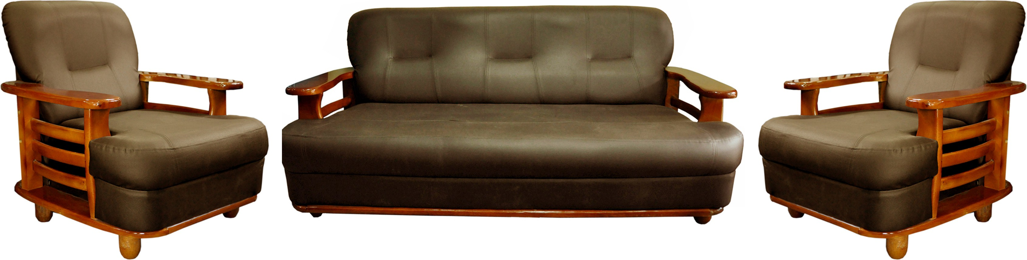 Sofa Set Offers In Mumbai Knight Industry Leatherette 3 1 1 Walnut Brown Sofa Set