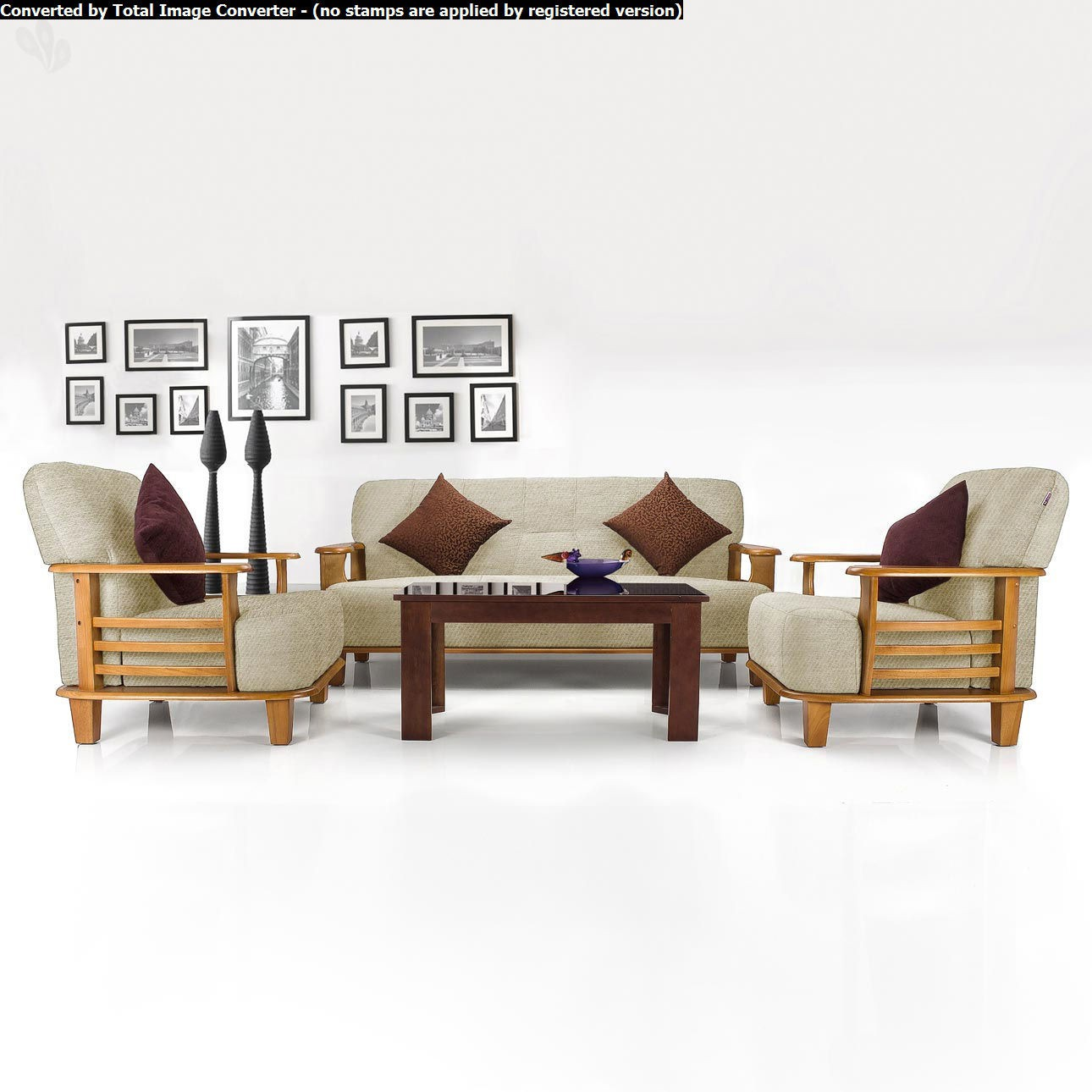 Sofa Set Price Rate Vive Phoenix Solid Wood 3 43 1 43 1 Sofa Set Configuration