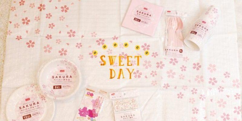 【大創好物】sakura party~女孩們的櫻花煮菜趴~大創的櫻花風野餐小物