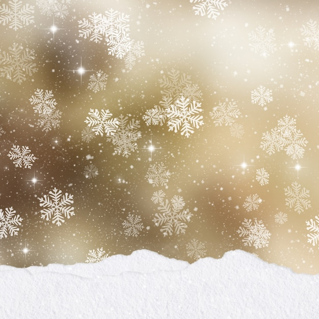 Free Christmas Falling Snow Wallpaper Snow Vector Decorations Greeting Card Vector Free Download
