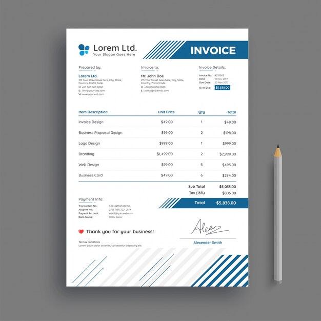 creative invoice template - Pinarkubkireklamowe