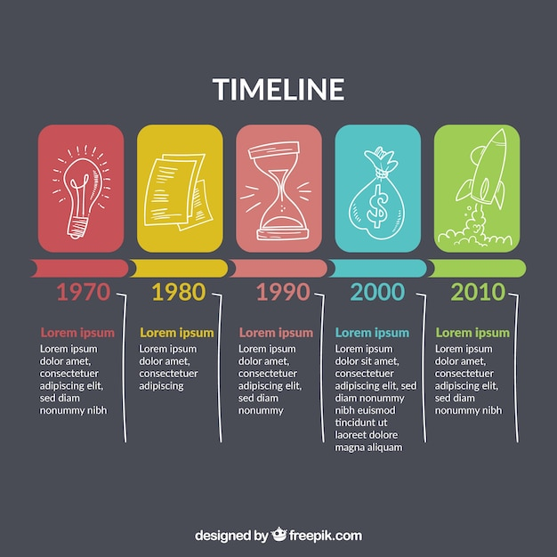 Free Business timeline template with infographic style SVG DXF EPS