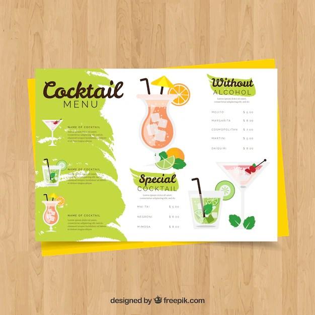 cocktail menu template - Kubrakubkireklamowe