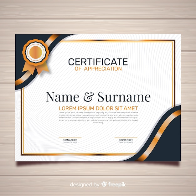 Free Creative certificate template SVG DXF EPS PNG - Free SVG Cut
