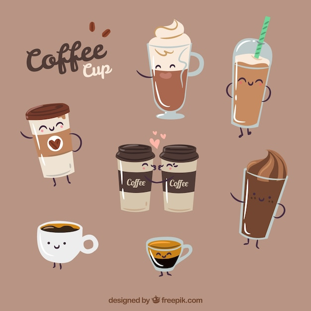 Fall Cartoon Wallpaper Coffee Cup Vectors Photos And Psd Files Free Download