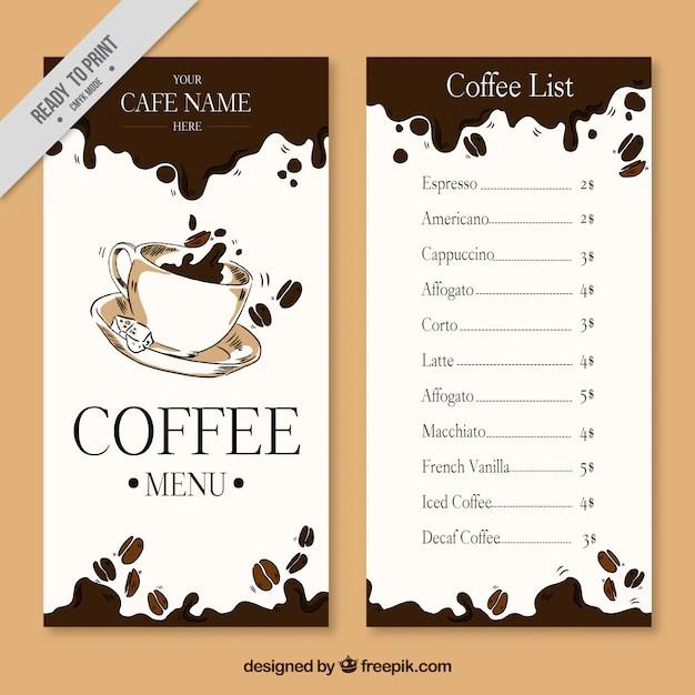 cafe menu templates free download - Minimfagency