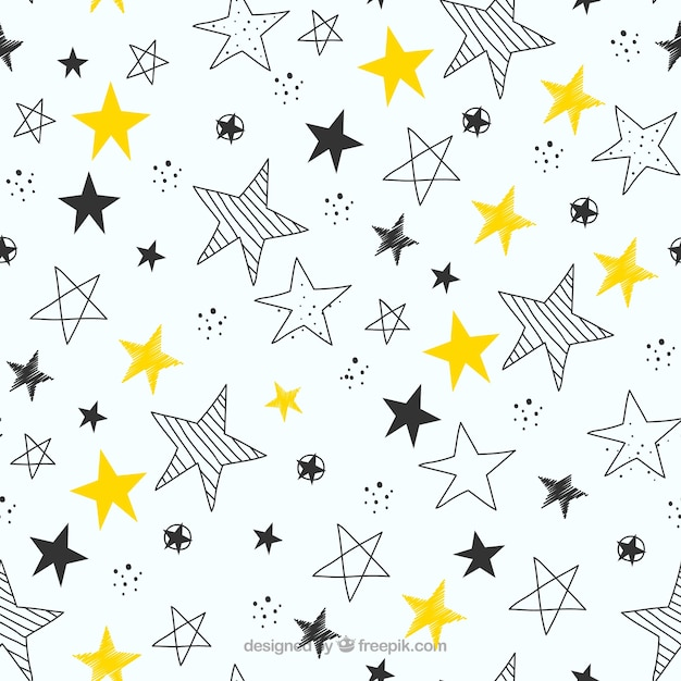Black And White Geometric Wallpaper Stars Pattern Vectors Photos And Psd Files Free Download
