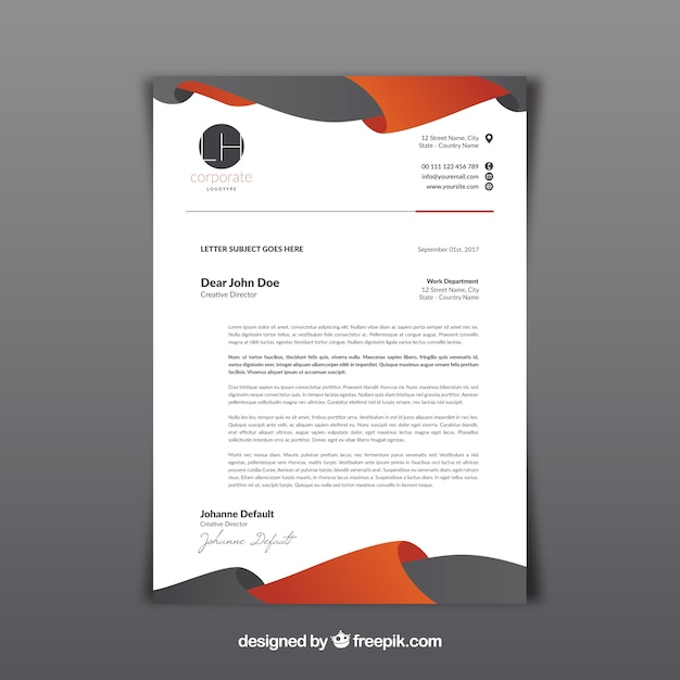 Free Letterhead Template Word Publisher Microsoft Letterhead Vectors Photos And Psd Files Free Download