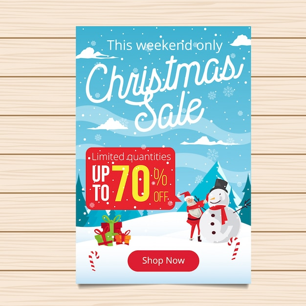 Free Merry Christmas Banner Sale Illustration SVG DXF EPS PNG - Cut