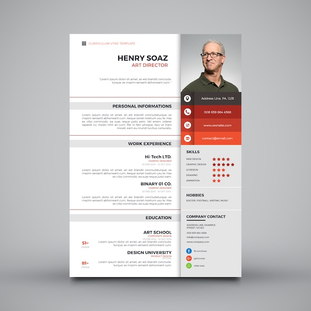 Curriculum Template Design Vector Free Download Cv Vectors Photos And Psd Files Free Download
