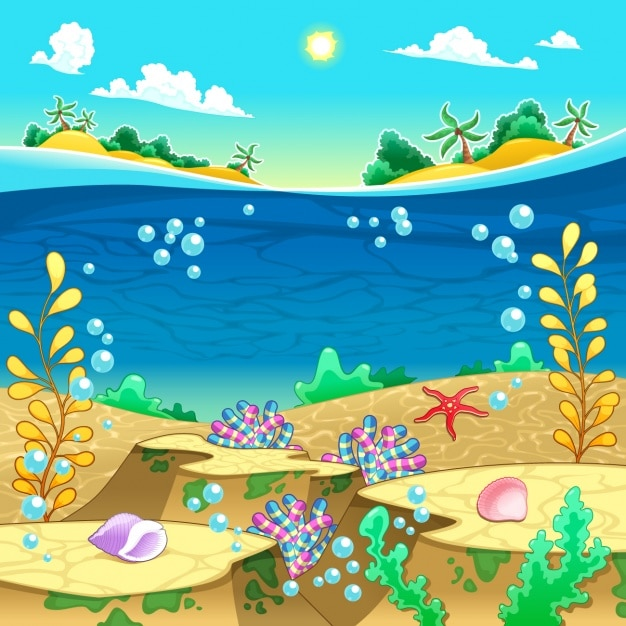 Cute Sea Turtle On Sand Hd Graphic Wallpaper Sea Animals Collection Vector Free Download