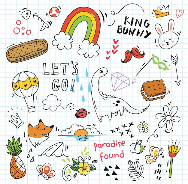 Kids Animal Wallpaper Doodle Vectors Photos And Psd Files Free Download