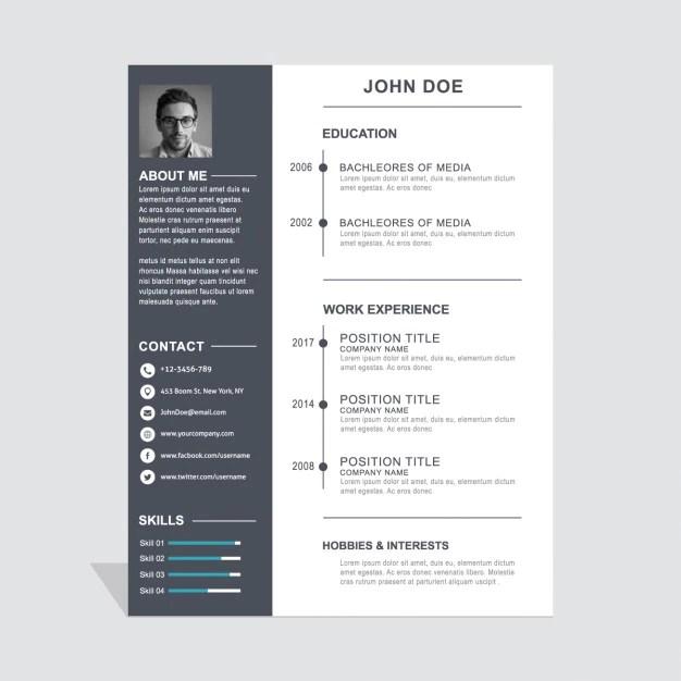 Graphic Design Portfolios The New Online Resume How Curriculum Vitae Design Vector Free Download