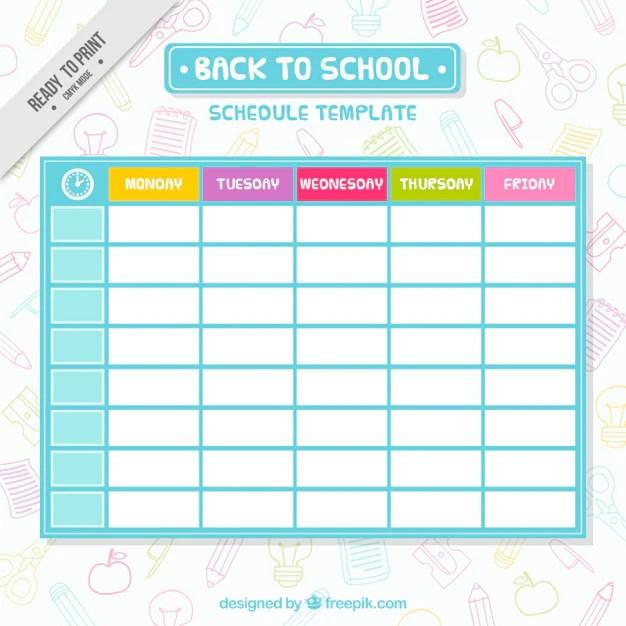 student class schedule maker mini calendar template monthly