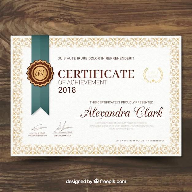 Freepik Agradecimiento Títulos Templates Certificados Cristianos
