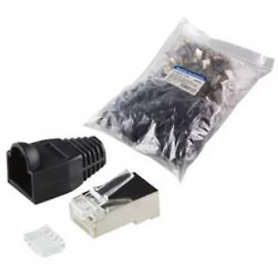 RJ45 CONNECTOR CAT 6, shielded Plug, straight Number of pins 8P8C