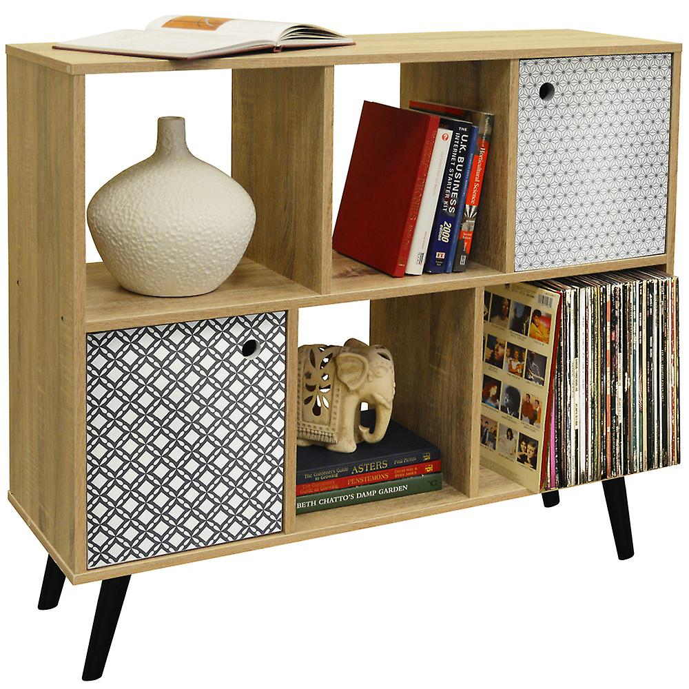 Retro Regal Retro Offene Sideboard Cube Regale Lp Vinyl Storage 2 Türen