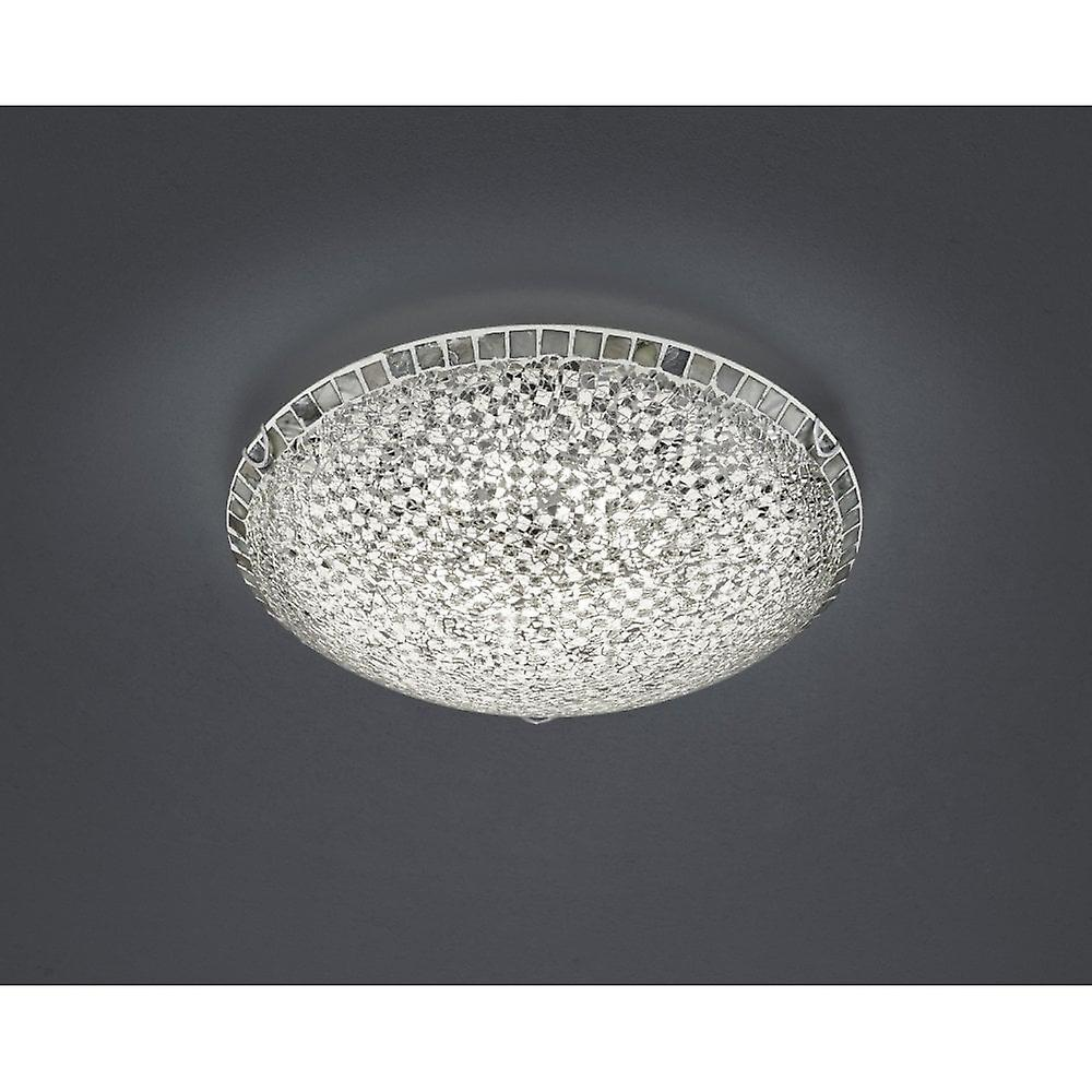 Glass Crackle Lamp Trio Lighting Mosaique Modern Silver Crackle Glass Ceiling Lamp