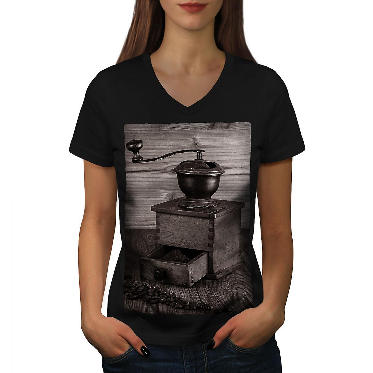 Coole Frauen Kaffee Alte Coole Frauen Blackv Neck T Shirt Wellcoda