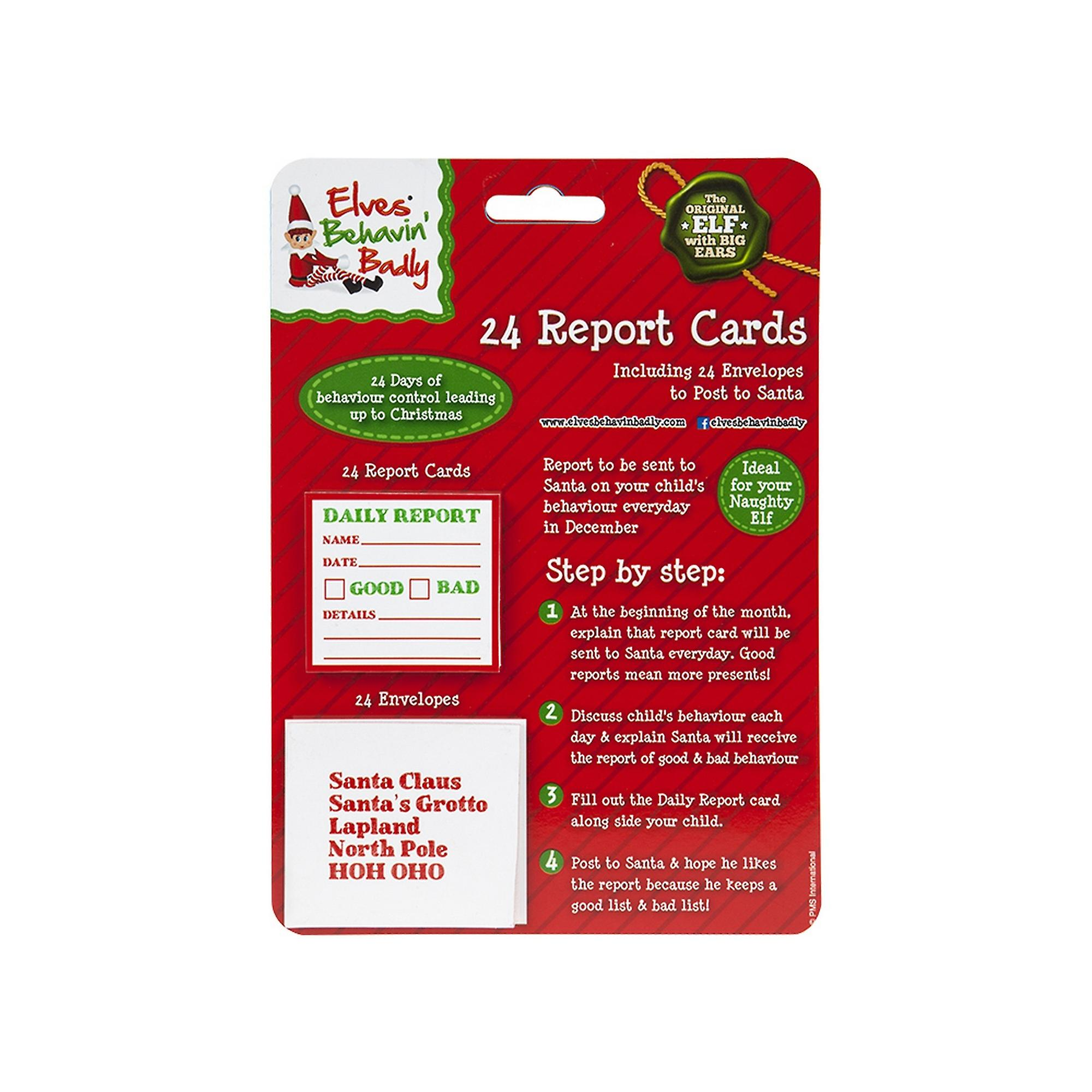 Bad Shop 24 Christmas Shop Mini Report Cards With Envelopes Pack Of 24