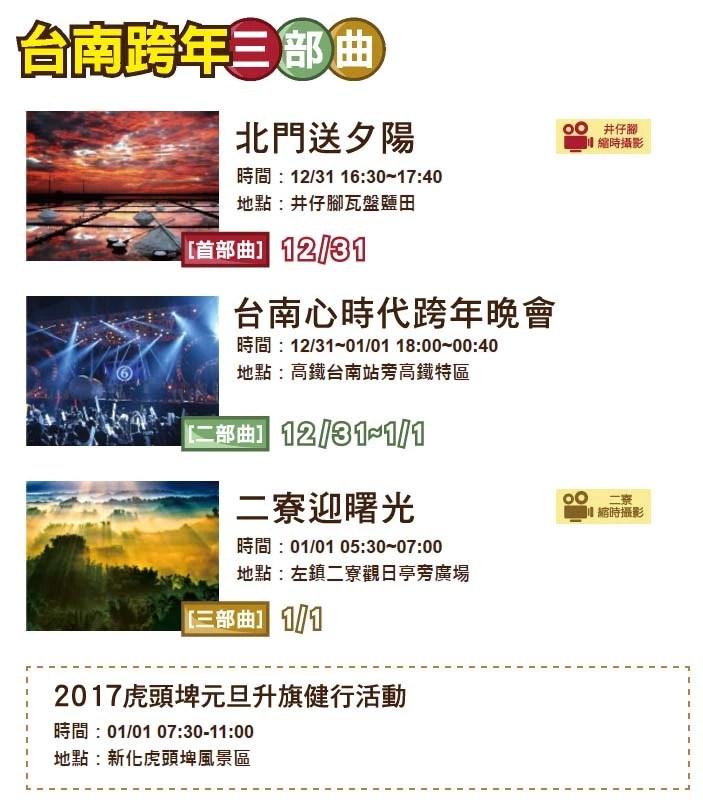 2017台南跨年演唱會,跨年晚會總整理-最新完整總整理1