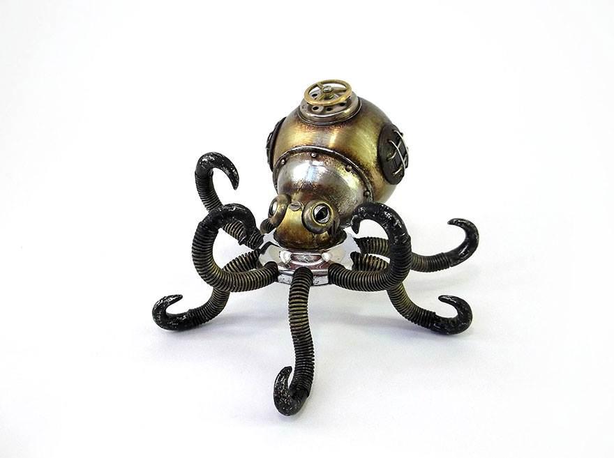[装置艺术]废弃金属唯美逼真机械动物