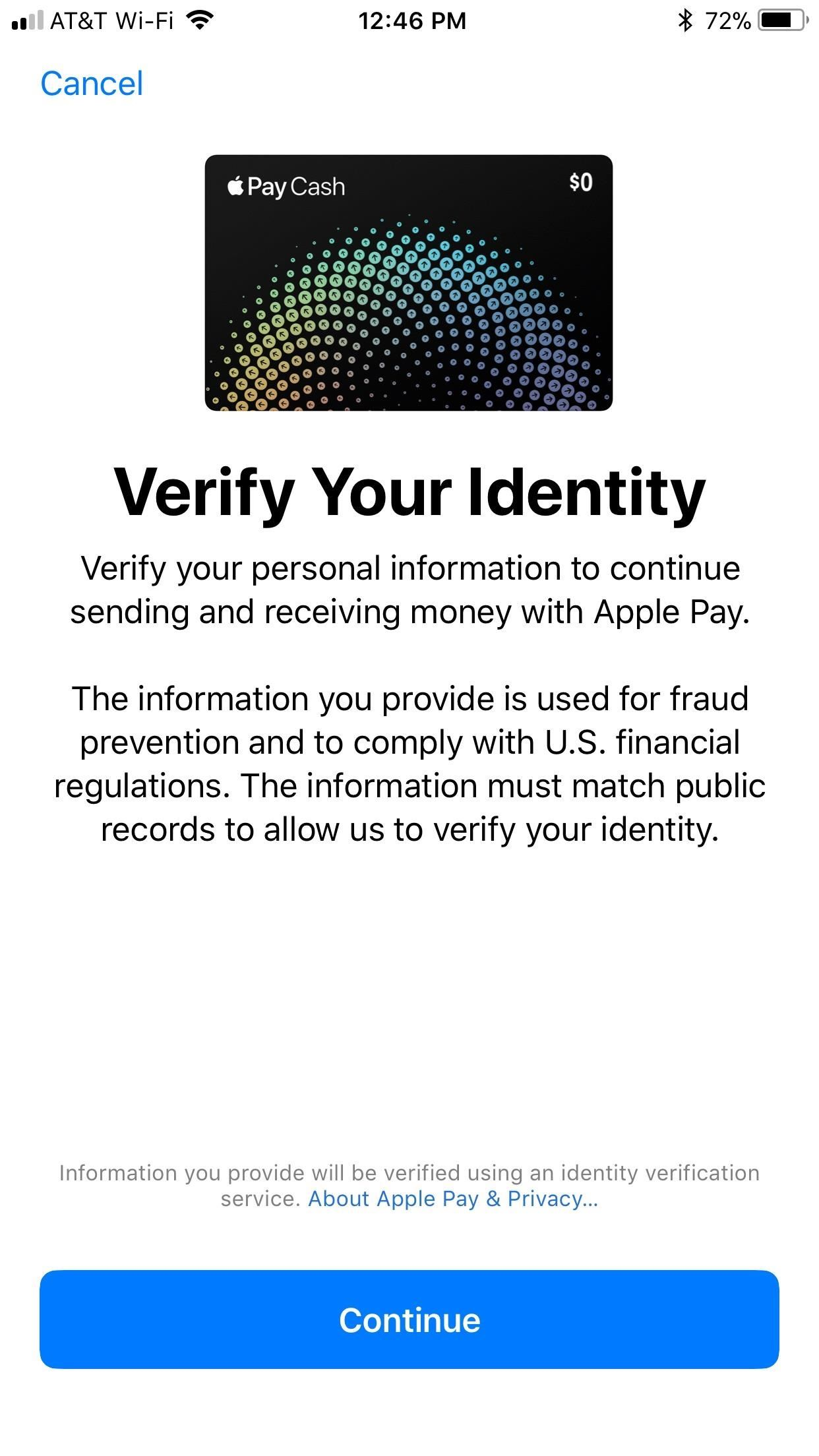 Einrichten Apple Id Apple Pay Cash 101 How To Verify Your Identity With Apple