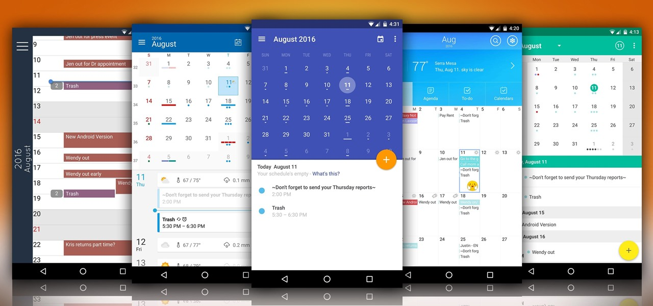 The 5 Best Android Calendar Apps to Replace Your Stock One « Android
