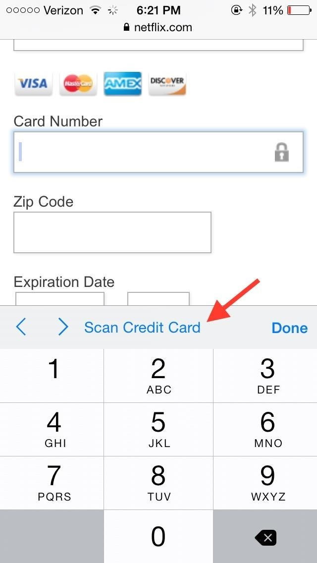 Auto-Fill Credit Card Forms Using Your iPhone\u0027s Camera in iOS 8